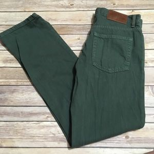 VTG Tommy Hilfiger Green Denim Straight Jeans